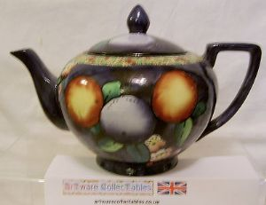 W & R Carlton Ware 'Orange' Teapot